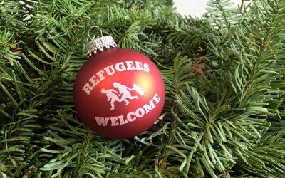 "Leipzig: ""Refugees Welcome!"" Gerade an kühlen Tagen."