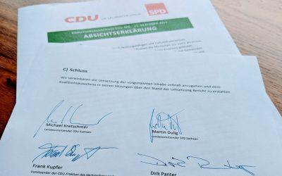 Absichtserklärung zur weiteren Arbeit der CDU/SPD-Koalition: Kommunen zentrales Thema
